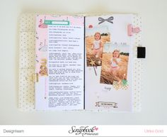 TN Tutorial Scrapbook Werkstatt - Maggie Holmes / Crate Paper `Carousel' - Ulrike Dold Crate Paper, Travelers Notebook, Project Life, Crates, Tutorial, Projects, Tips And Tricks, Log Projects, Blue Prints