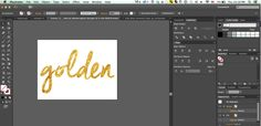 textured font in gold