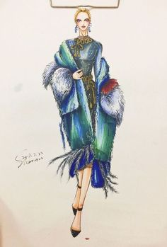 Fashion Design Sketchbook, Fashion Design Drawings, Fashion Sketches, Fashion Drawing Dresses, Fashion Illustration Dresses, Fashion Illustrations, Fashion Illustration Tutorial, Illustration Mode, Croquis Fashion