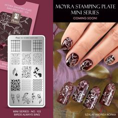 Moyra Stamping Plate Mini Series Coming soon! #moyra #nailart #stamping #plate #miniseries #mini #comingsoon #new #koromnyomda