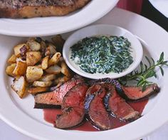 Sirloin with Red Wine Sauce