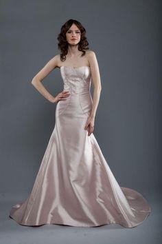 Mermaid-Hochzeitskleid: Rosa Satin