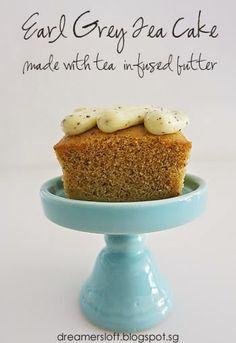 DreamersLoft: Earl Grey Tea Cake (using tea-infused butter)