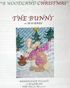 HP Needlepoint 18ct RENAISSANCE DESIGNS The Bunny/Stitch Guide/Threads-JS10
