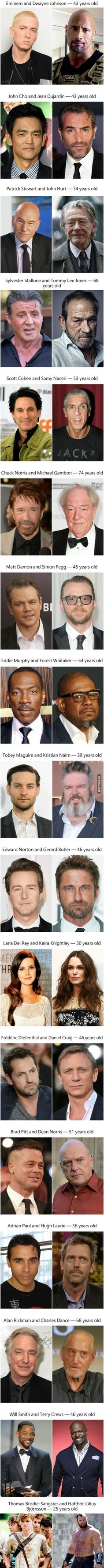 17 Unbelievable Photographs Of Celebrities Who Are The Same Age Note: that last one, though...