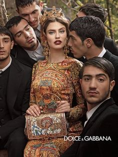 Dolce & Gabbana Fall 2013: Monica Bellucci, Andreea Diaconu, Bianca Balti, and Kate King photographed by Domenico Dolce. Photo courtesy of Dolce & Gabbana