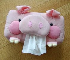 Piggy Tissue Box Cover