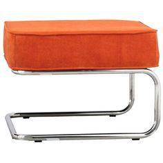Hocker Ridge Rib - Oranje - Zuiver