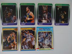 1988-89 Fleer Utah Jazz Team Set Of 7 Basketball Cards (No Stockton #115) #UtahJazz