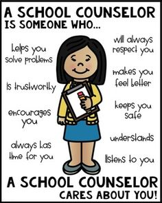 School Counselor Poster [Someone Who] – Education Posters National School Counseling Week, Elementary School Counseling, School Social Work, Elementary Schools, Counseling Activities, Group Counseling, Counselor Office, Guidance Lessons, School Posters
