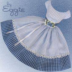 Little Girl Blue - Vintage Reproduction Barbie Doll Dress Clothes Fashions