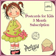 Postcard Subscription for Kids  by FAIRYMAIL on Etsy,