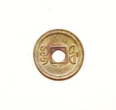 27b.   Reverse side of a Guang Xu Tong Bao (光緒通寶) 1 cash coin milled between 1900-1908 at the 'FU' (福) Mint in Fuzhou, Fujian Province, during the reign of Emperor Guangxu (1875-1908 AD). 19mm in size.