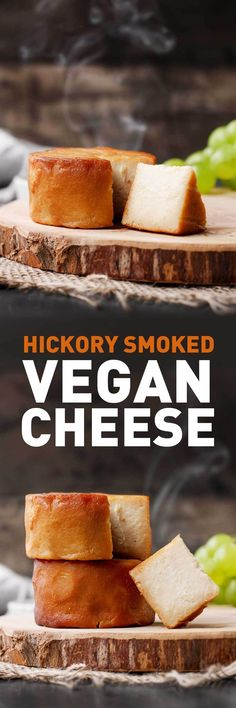 Hickory Smoked Vegan Cheese This buttery, aged cashew cheese has real smoky flavor due to being smoked over hickory wood chips. Vegan Cheese Recipes, Vegan Cheese Sauce, Vegan Foods, Vegan Snacks, Vegan Dishes, Dairy Free Recipes, Raw Food Recipes, Vegetarian Recipes, Cooking Recipes