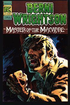 SIGNED BERNI WRIGHTSON Master of Macabre #2 Pacific Comics Illustrated Horror Fantasy Illustration Mature Comics Art