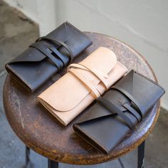 Simple Gusset Leather Clutch - Free PDF Template