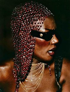 Grace Jones   in Versace
