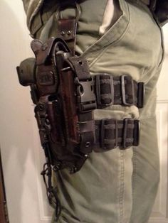 I think men need one of these. What for, I have no clue but it looks cool. I would buy it, if he promises to wear it around the house at least once. Gun Holster, Leather Holster, Leather Quiver, Todo Camping, Camping Gear, Camping Checklist, Camping Survival, Outdoor Camping, Survival Tools