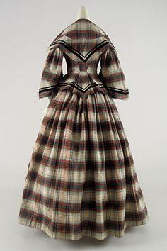Hard Tartan Dress, ca. 1855-60 | In the Swan's Shadow