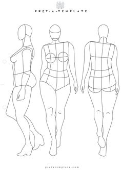 Plus Size Woman body figure fashion template (D-I-Y your own Fashion Sketchbook)