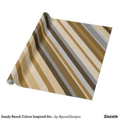 Wrap up your gifts with Brown Stripes wrapping paper from Zazzle. Picnic Blanket, Outdoor Blanket, Beach Color, Gift Wrapping Paper, Present Gift, Purple Grey, Grey Stripes, Beach Mat, Wraps