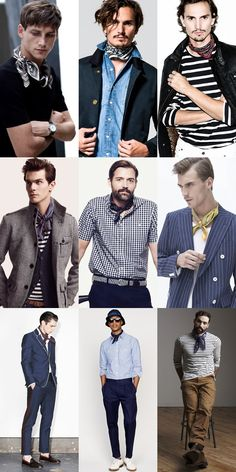 Men's Neckerchief Outfit Inspiration Lookbook