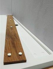 Shower Tray With Removable Teak Slub