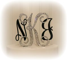Vine Monogram Wedding Cake Topper Partially by InitialMoments, $65.00