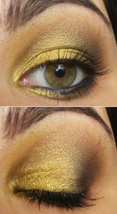 golden yellow and black