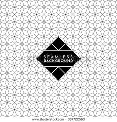 seamless fashion abstract monochrome black and white wallpaper or background with hipster label or badge for flayer poster logo or t-shirt apparel clothing print  - stock vector
