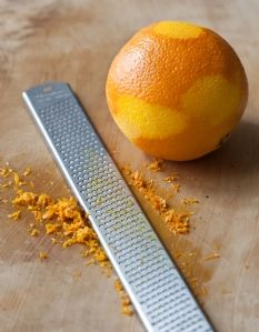 A rasp is my favorite tool for grating zest.