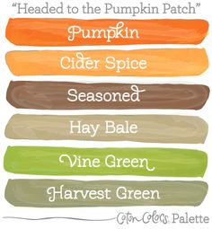 Great earthy palette for autumn