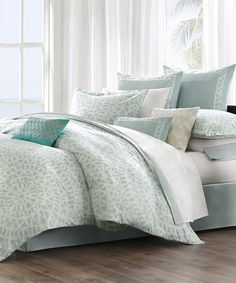 Another great find on #zulily! JLA Home Sky White Greek Duvet by  #zulilyfinds