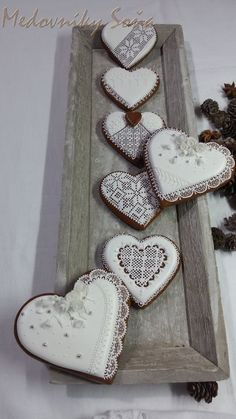Big Cookie, Heart Shaped Cookies, Valentine Cookies, Royal Icing, Cookie Decorating, Heart Shapes, Gingerbread, Anna, Sweets