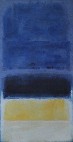 Mark Rothko, Rothko Art, Abstract Painters, Abstract Art, Willem De Kooning, Blue Yellow, Dark Blue, Expressive Art, Paul Gauguin