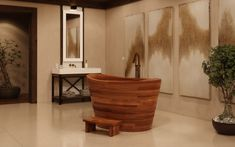 Aquatica TrueOfuro American Walnut Freestanding Wood Bathtub 7 (web)