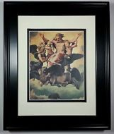 1968 Vision of Ezekiel by Raphael, Old Master Bible Masterpiece Print Framed NEW