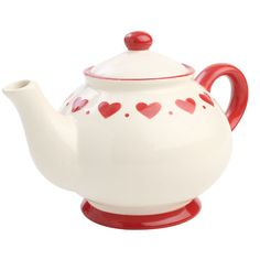Image for Red Hearts Teapot T Woodware