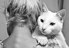 Image via We Heart It #cat #cute #fashion #girl #girls #hug #Ladygaga #love #mascot #miley #neck #photography #selenagomez #tattoo #tattoogirl #Tattoos #truelove #whitecat #justinbieber #smalltattoo #necktattoo #simpletattoo #tattoogirls #tattooforgirls #atrapasueÑos #longblack #tattooforgirl #zayn #llamaangeles #onedirection