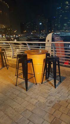 Coffee Shop Design, Cafe Design, Kombi Food Truck, 55 Gallon Drum, Lounge Party, Shelter Design, Metal Barrel, Barrel Furniture, Brew Pub