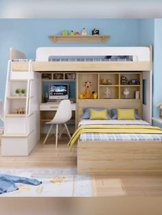 77 Coolest Bedroom Design Ideas You've Ever Seen ~ Best Dream House Small House Interior Design, House Furniture Design, Home Room Design, Kids Room Design, Small Room Furniture, Small Room Interior, Childrens Bedroom Furniture, Smart Furniture, Loft Beds For Small Rooms