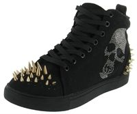 Penny Sue Crave Women's Canvas Spikes Skull Casual Shoes from Street Moda, a leading online retailer of discount designer shoes, apparel and accessories retailer.