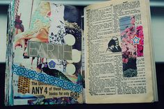 By Brooke at Brooke Is Far Out | Collage journal using a book.