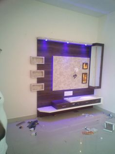 Lcd Unit Design, Lcd Wall Design, Tv Unit Interior Design, Tv Unit Furniture Design, Wall Unit Designs, Tv Stand Designs, Living Room Tv Unit Designs, Tv Unit Decor, Tv Wall Decor
