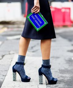 It's time to stop wondering how the heels and socks trend works, and start wearing it! Click through for 6 foolproof ways to pull the look off.