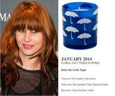 Cecile Togni for Quintessence Paris  2014 Calendar Set  Rain Salt 140g Candle (FLORAL NAVY WHITE FLOWERS) http://french-studio-imports.myshopify.com/ #FSI