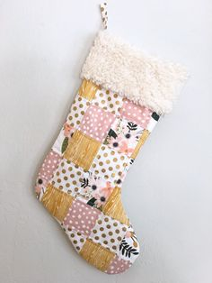 Christmas Stocking. Baby Girl Stocking. Babys First by maxandgrace