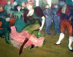 Henri de Toulouse-Lautrec : La Goulue au Moulin Rouge