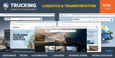 Trucking is HTML template created for logistics, trucking, transportation…