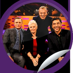 ORIGINALS BY ITALIA's The Graham Norton Show: Daniel Craig, Dame Judi Dench & Javier Bardem Sticker | GetGlue